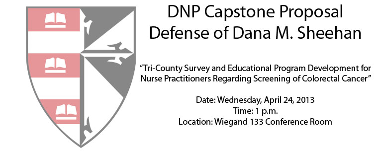 DNP Capstone Proposal Defense of Dana M. Sheehan
