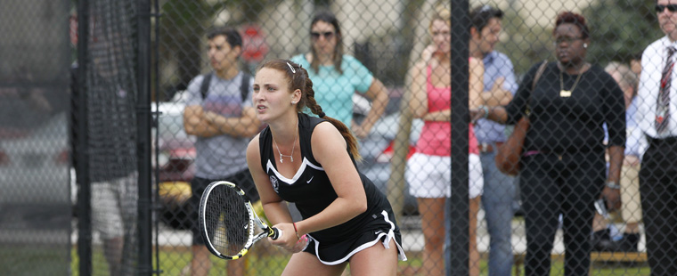 Shark Attack: Women's Tennis Nabs SSC Quarterfinals Win