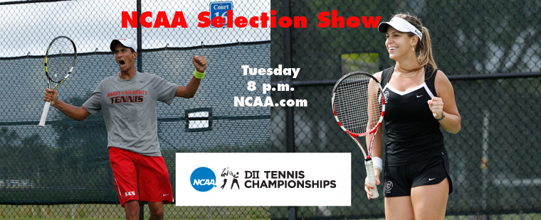 NCAA Tennis Selection Shows Air Tonight at 8 p.m.