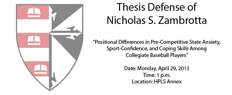Thesis Defense of Nicholas S. Zambrotta