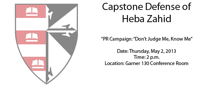 Capstone Defense of Heba Zahid