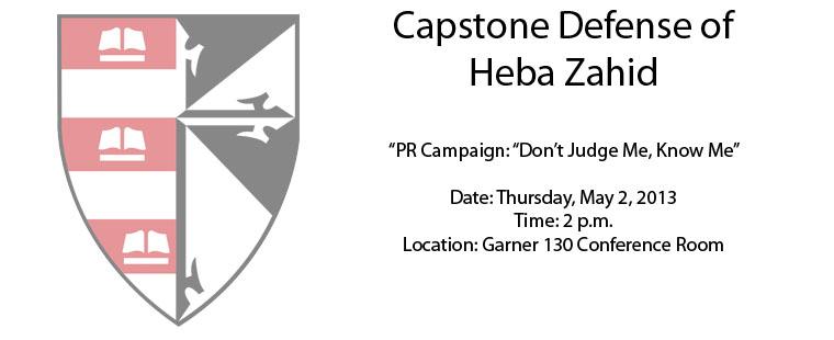 Capstone Defense of Heba Zahid