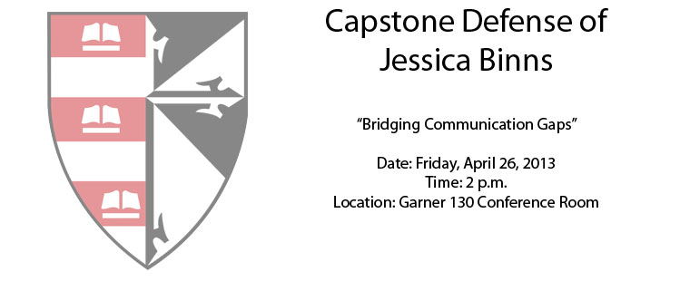 Capstone Defense of Jessica Binns