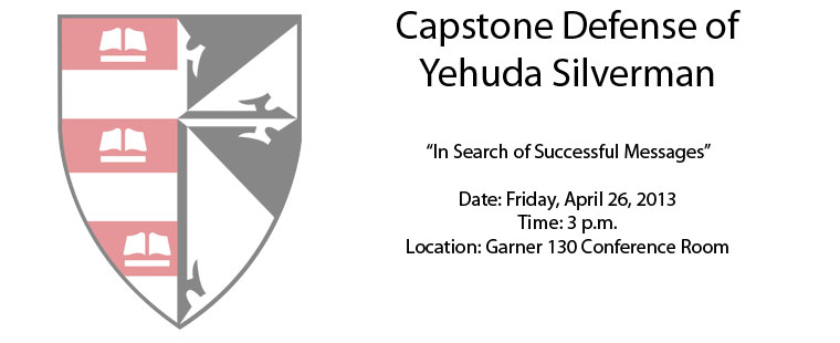Capstone Defense of Yehuda Silverman