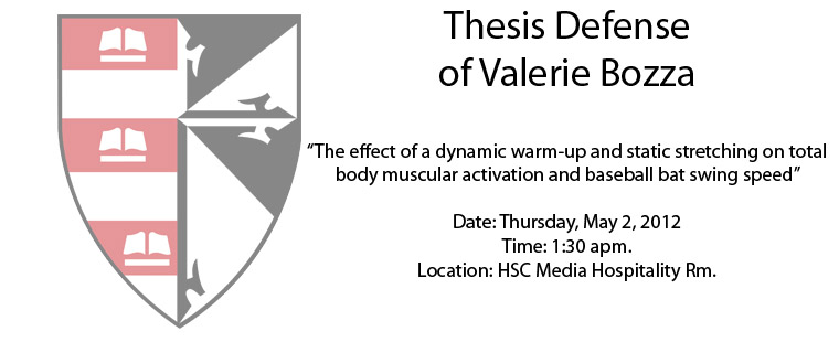 Thesis Defense of Valerie Bozza
