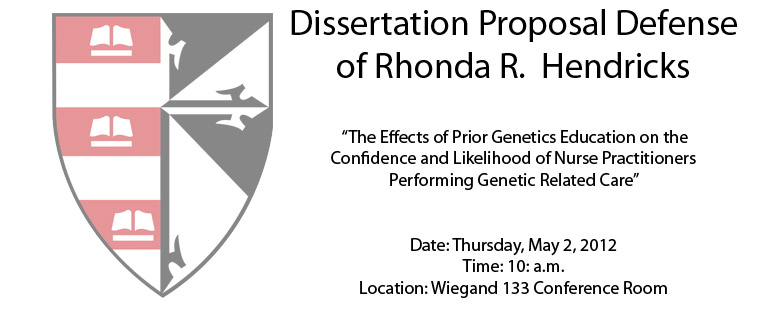Dissertation Proposal Defense of Rhonda R.  Hendricks