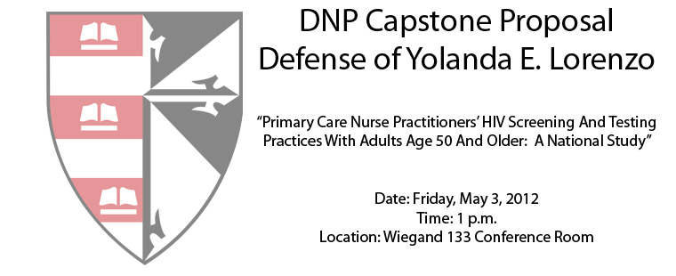 DNP Capstone Proposal Defense of Yolanda E. Lorenzo