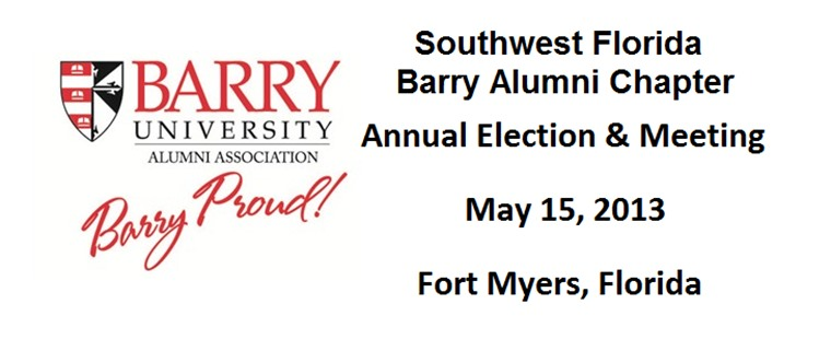 Southwest Florida Barry Alumni Chapter Elections