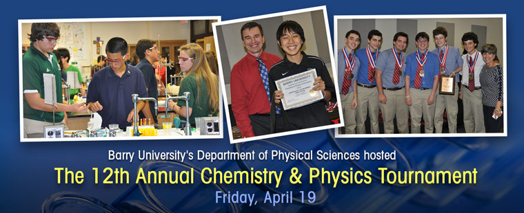 Physical Sciences' 12th annual Chemistry and Physics Tournament