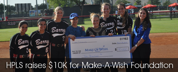 HPLS hosts Make-A-Wish Foundation for $10K check presentation