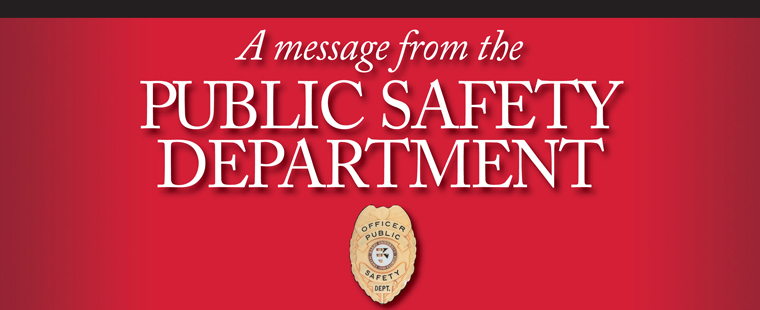 A message from the Public Safety Department