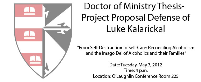 Doctor of Ministry Thesis-Project Proposal Defense of Luke Kalarickal