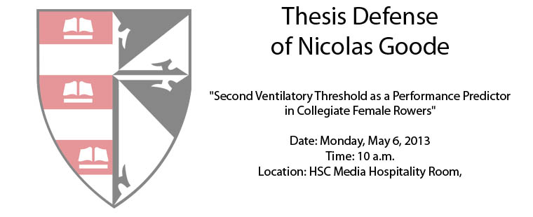 Thesis Defense of Nicolas Goode