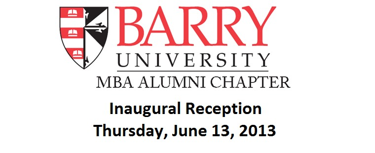 Barry MBA Alumni Chapter Inaugural Reception