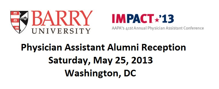 Barry University Physician Assistant Alumni Reception in Washington, DC
