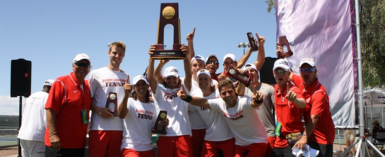 Barry to Honor National Champion Men's Tennis Monday
