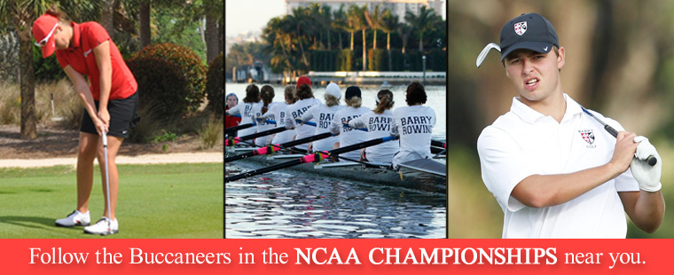 Barry University Alumni, follow the Buccaneers in the NCAA Championships near you.