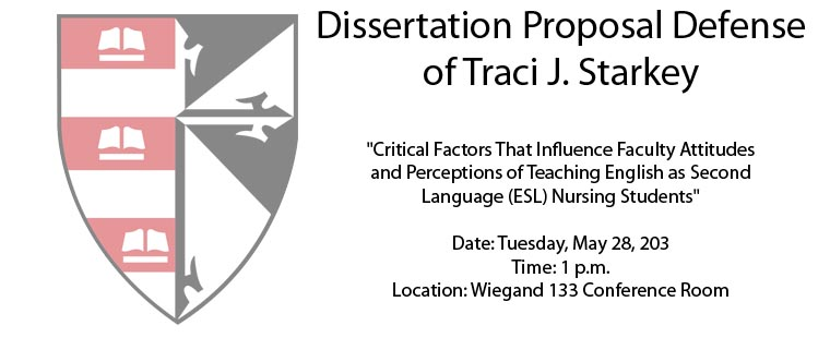 Dissertation Proposal Defense of Traci J. Starkey