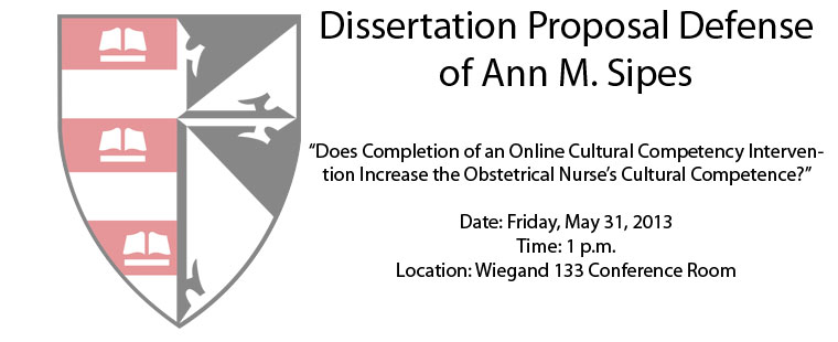 Dissertation Proposal Defense of Ann M. Sipes