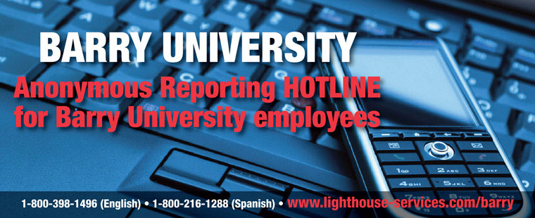 Barry University Anonymous Reporting Hotline