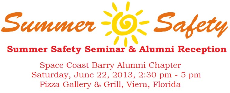 Barry Space Coast Alumni Summer Safety Event