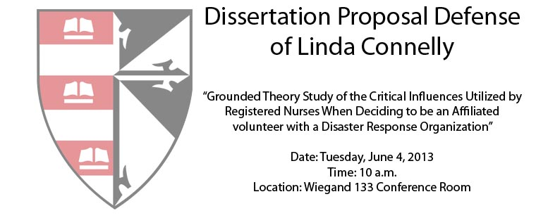 Dissertation Proposal Defense of Linda Connelly
