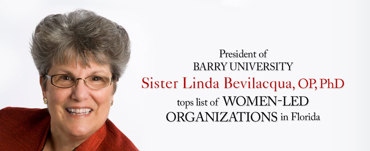 Sister Linda Bevilacqua, named among top 10 women-led organizations in the state