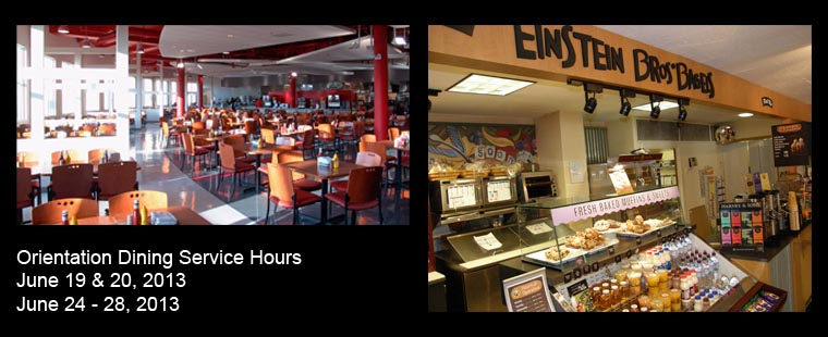 Roussell Dining Service Hours – June 19-27, 2013