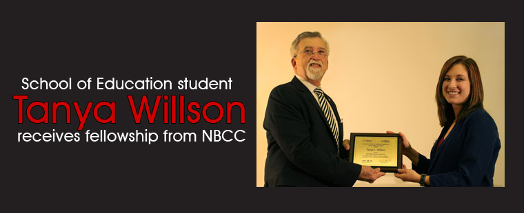 ADSOE student Tanya Willson awarded fellowship from NBCC