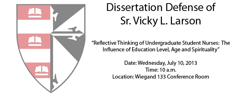 Dissertation Defense of Sr. Vicky L. Larson