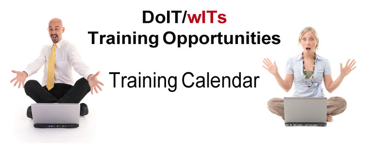 July 2013 DoIT/wITs training opportunities