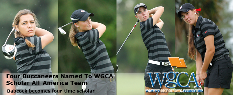 Four Buccaneers Earn WGCA Scholar All-America
