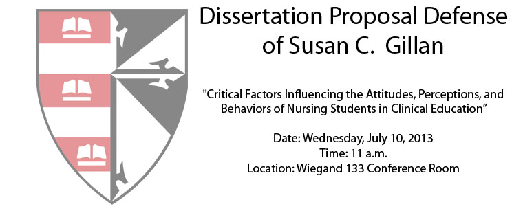 Dissertation Proposal Defense of Susan C.  Gillan