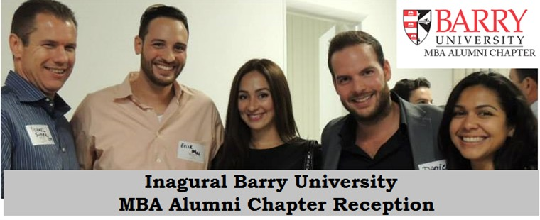 Inagural Barry University MBA Alumni Chapter Reception