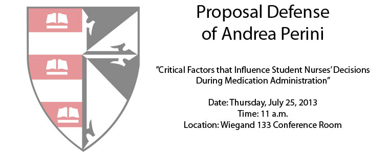 Proposal Defense of Andrea Perini