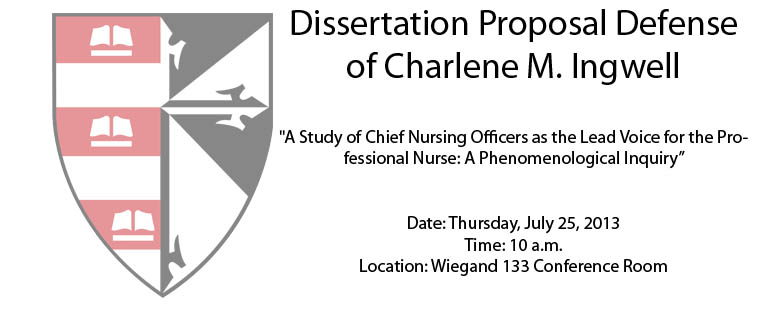 Dissertation Proposal Defense of Charlene M. Ingwell