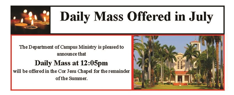 Daily Mass Summer Schedule 2013