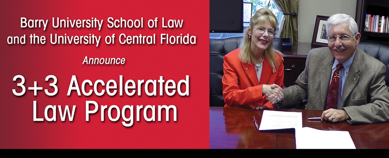 Barry Law, UCF to Partner for 3+3 Accelerated Law Program