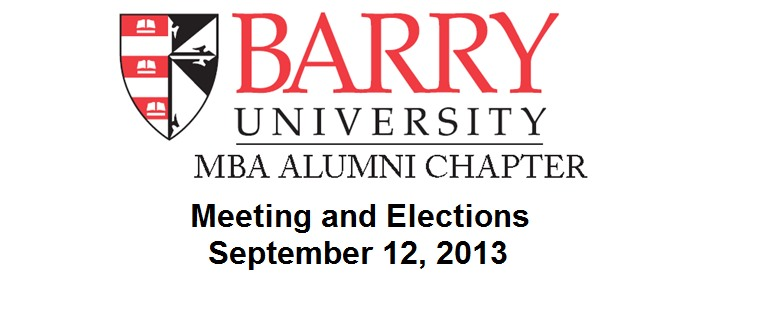 Barry University MBA Alumni Chapter Elections and Meeting