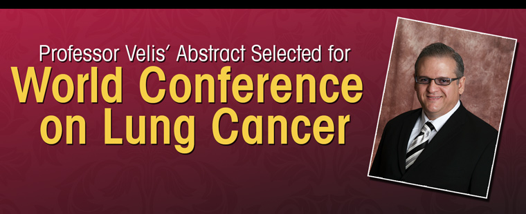 Graduate HSA Program Director and Researcher Abstract Selected for Presentation at 15th Annual World Conference on Lung Cancer