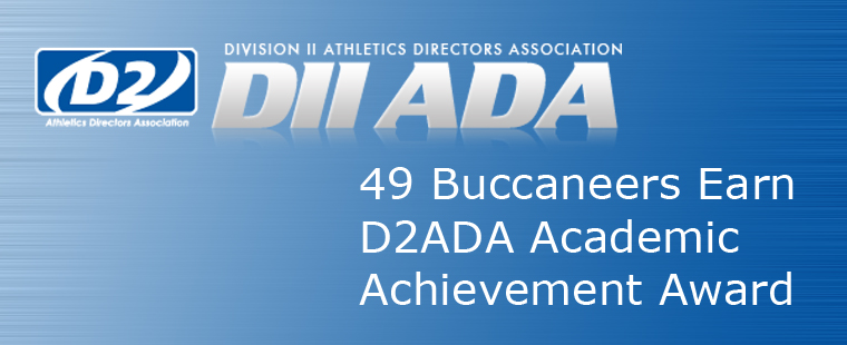 Forty-Nine Buccaneers Earn D2ADA Academic Achievement Award