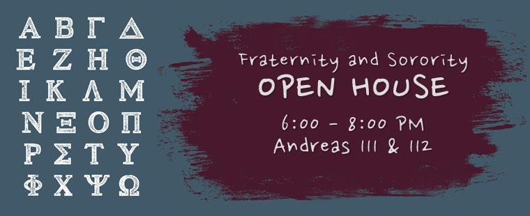 Fraternity & Sorority Open House