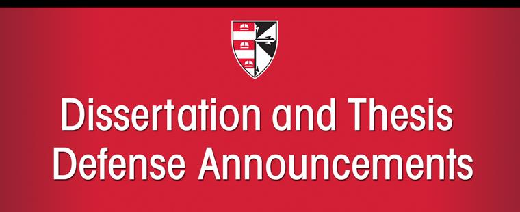 Dissertation and Thesis Defense Announcements – September 2013
