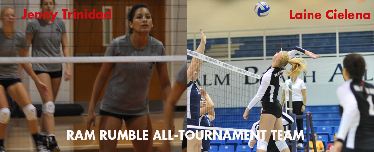Cielena, Trinidad Named to Ram Rumble Volleyball All-Tourney Team