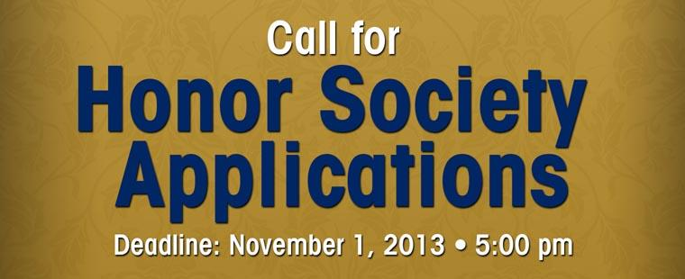 Call for Honor Society Applications