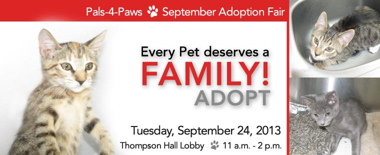 Pals-4-Paws September Adoption Fair
