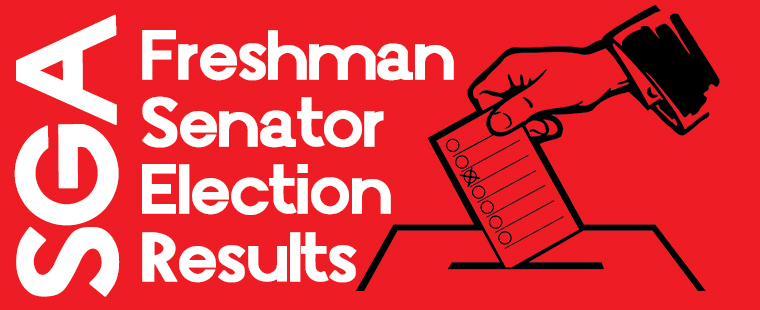 SGA Freshman Senator Election Results