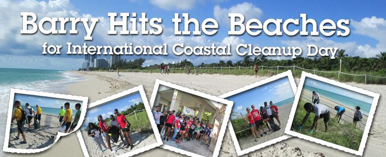 Barry University hits the beaches for International Coastal Cleanup Day