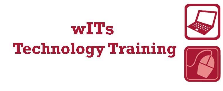 October 2013 wITs Technology Training