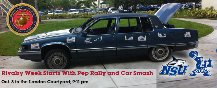 Rivalry Week Starts With Pep Rally and Car Smash
